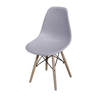 Jedálenská stolička UNO sivá