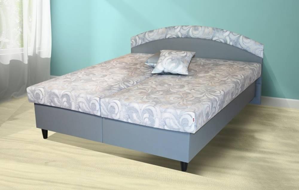 OKAY nábytok Čalúnená posteľ Corveta 180x200, šedá, vrátane matracov a úp