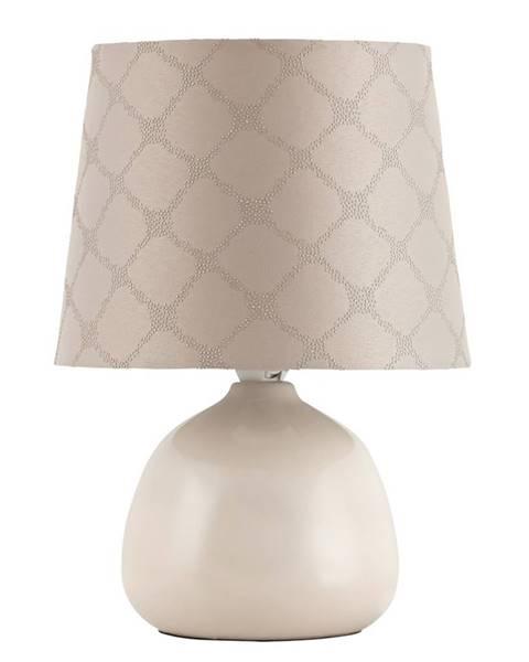 Béžová stolová lampa Rabalux