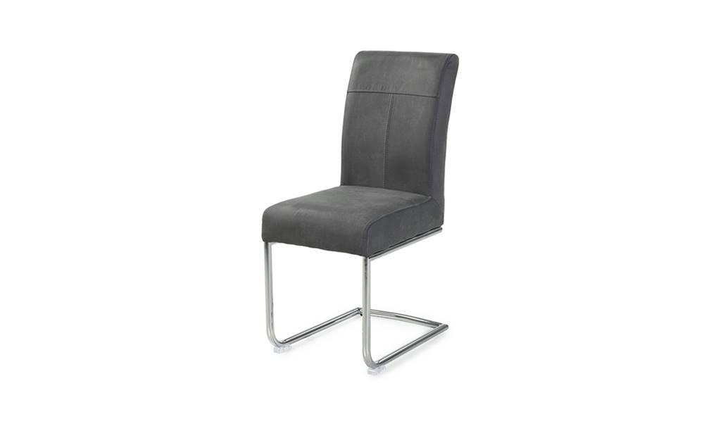 Sconto Jedálenská stolička FLORIAN sivá/chróm