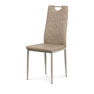 Jedálenská stolička OLINA hnedá/béžová