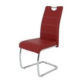 Jedálenská stolička FLORA S bordová, syntetická koža