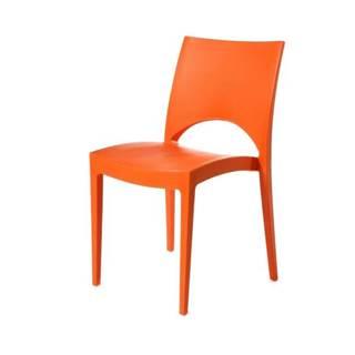 Jedálenská stolička PARIS oranžová